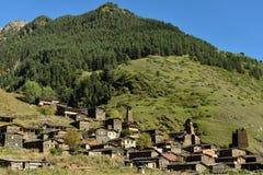 Het gebied Georgië van Tusheti van het Dartlodorp stock afbeelding