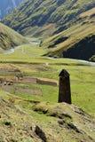 Het gebied Georgië van Tusheti van het Parsmadorp stock afbeeldingen