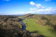 Het Gebied Gloucestershire, het UK van de Yvallei Stock Foto