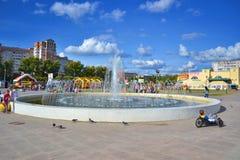 Het gebied met de fontein Royalty-vrije Stock Afbeeldingen