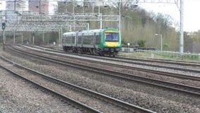 Het gebied van binnenlanden trein stock video