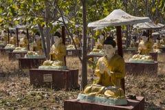Het Gebied van boddhi-Tathaung Boedha - Monywa - Myanmar Royalty-vrije Stock Foto's