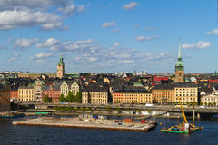 Het gebied van de binnenstad van Stockholm Royalty-vrije Stock Afbeeldingen