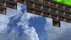 Het gebied van de bouw stock video