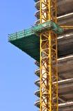 Het gebied van de bouw onder blauwe hemel Royalty-vrije Stock Fotografie
