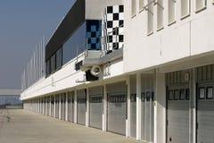 Het gebied van de dienst een rasspoor - pitstop Stock Foto