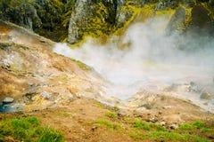 Het gebied van de fumarole in Namafjall, IJsland royalty-vrije stock foto's