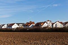 Het gebied van de huisvesting met acre royalty-vrije stock afbeelding