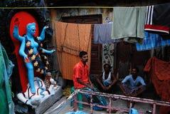 Het Gebied van de Krottenwijk van Kolkata Royalty-vrije Stock Fotografie
