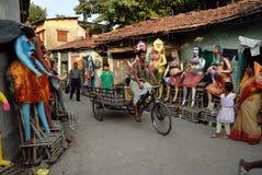 Het Gebied van de Krottenwijk van Kolkata Stock Afbeelding