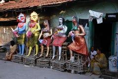 Het Gebied van de Krottenwijk van Kolkata Stock Fotografie