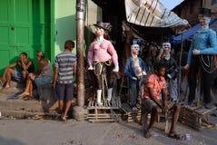 Het Gebied van de Krottenwijk van Kolkata Stock Foto