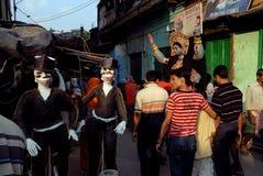 Het Gebied van de Krottenwijk van Kolkata Stock Foto's