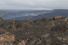 Het gebied van de lava Stock Afbeeldingen