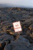Het gebied van de lava op de weg Stock Afbeeldingen