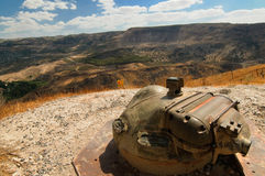 Het gebied van de mijn, Golanhoogten, Israël Stock Foto