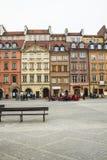 Het gebied van de Oude Stad in Warshau, Polen stock afbeeldingen