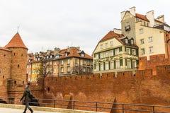 Het gebied van de Oude Stad in Warshau, Polen stock foto