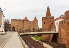 Het gebied van de Oude Stad in Warshau, Polen royalty-vrije stock foto