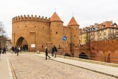 Het gebied van de Oude Stad in Warshau, Polen stock fotografie