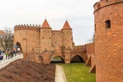 Het gebied van de Oude Stad in Warshau, Polen royalty-vrije stock foto's