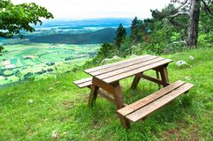 Het gebied van de picknick Royalty-vrije Stock Foto's