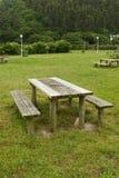 Het gebied van de picknick stock foto's