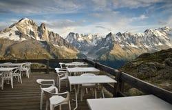 Het gebied van de picknick in de Franse Alpen Stock Foto's