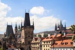 Het gebied van de poederpoort in Praag Stock Foto's