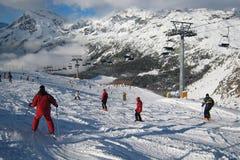 Het gebied van de Ski royalty-vrije stock afbeelding