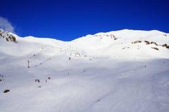 Het Gebied van de ski en de Berg van de Sneeuw Stock Fotografie
