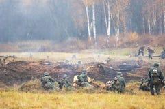 Het gebied van de slagoorlog Stock Foto's