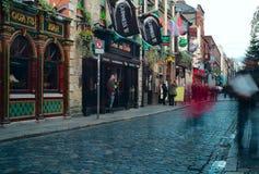 Het gebied van de Staaf van de tempel in Dublin. Ierland Stock Foto