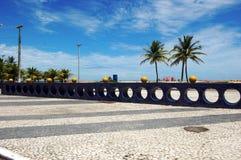 Het Gebied van de Strandboulevard van Aracaju royalty-vrije stock afbeelding