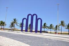 Het Gebied van de Strandboulevard van Aracaju Stock Foto