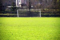 Het gebied van de voetbal royalty-vrije stock afbeelding