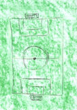 Het gebied van de voetbal royalty-vrije stock foto's