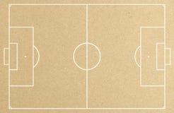 Het gebied van de voetbalvoetbal met witte lijn op papier Royalty-vrije Stock Afbeelding
