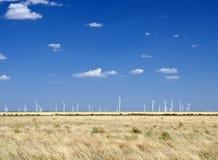 Het gebied van de windmolen Stock Foto's