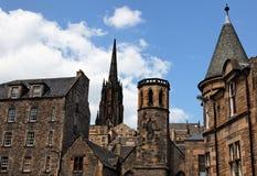 Het gebied van Grassmarket. Edinburgh. Schotland. het UK. stock foto's