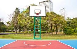 Het gebied van het basketbal. Stock Foto's