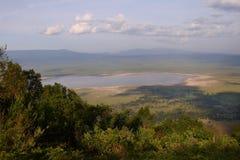 Het gebied van het Behoud Ngorongoro royalty-vrije stock afbeelding
