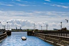 Het Gebied van het Dok van de Baai van Cardiff stock foto