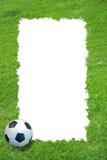 Het gebied van het gras en voetbalframe Royalty-vrije Stock Afbeelding