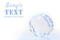 Het gebied van het kristal met een facet stock foto