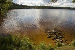 Het in-gebied van het meer. Stock Foto's