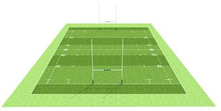 Het gebied van het rugby Stock Afbeelding