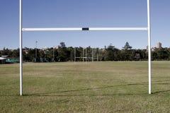 Het Gebied van het rugby - Doel Stock Afbeeldingen