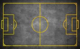Het gebied van het straatvoetbal in donkere grungestijl Royalty-vrije Stock Afbeeldingen