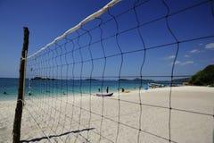 Het gebied van het strandvolleyball Stock Afbeelding